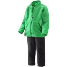 Dětský fleecový komplet Reima Kaksi mikina a kalhoty zelený