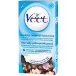 Veet voskové pásky A vitamín E a mandlový olej pro citlivou pokožku 12 ks