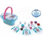 SMOBY 24485 Frozen piknikový košík s třpytkami s nádobím a 24 doplňků