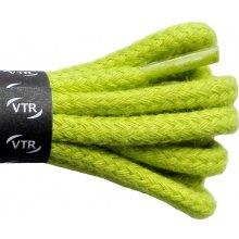 Kulaté zelené bavlněné tkaničky 130 cm
