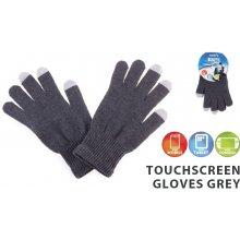 Natec rukavice pro dotykové displeje smartphony/tablety/PSP šedé