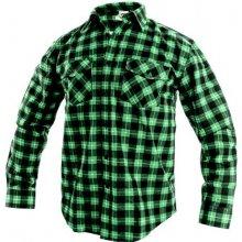 Tom flanelová košile Zelená