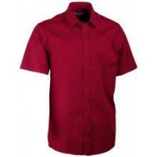 Aramgad Vínově červená pánská košile rovná 40333, Provedení pánské, Druh Košile krátký rukáv rovný střih