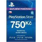 Sony PlayStation Store předplacená karta 750 CZK