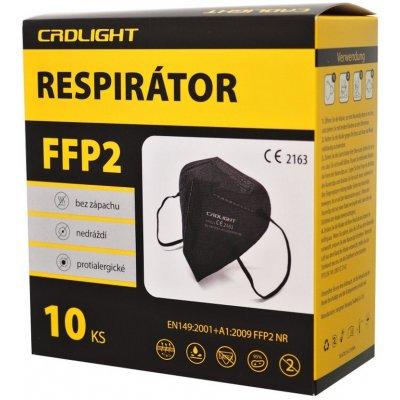 CRDLight respirátor FFP2 černý 10 ks