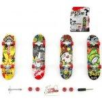 Teddies Skateboard prstový plast 10cm s doplňky asst