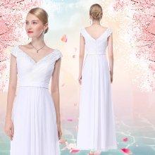 98655f33726 Dlouhé svatební šaty na na ramena bílá