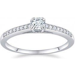 38de56b8f Silvego Stříbrný zásnubní prsten Athenais FNJSM023 (Obvod 59 mm ...