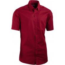 Aramgad vínově červená košile s knoflíčky v límečku vypasovaná 40334