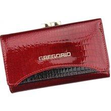 Gregorio Červená lesklá kožená peněženka GP 106 aaa0ceb7624