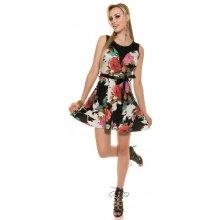 f2eab4a4bbb7 KouCla letní dámské šaty s květy černo růžová černá