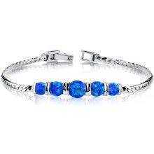 Eppi stříbrný náramek zdobený modrými opály Boanah BR32244