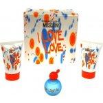 Moschino Cheap & Chic I Love Love EdT 4,9 ml + sprchový gel 25 ml + tělové mléko 25 ml dárková sada