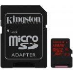 Kingston microSDXC 128GB UHS-I U3 + adaptér SDCA3/128GB