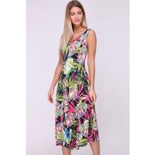 Revdelle letní midi šaty Obella Black Tropical barevná černá 39f96c6db9