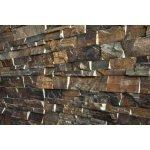 Kamenný obklad VIPSTONE Břidlice hnědá 60x15cm