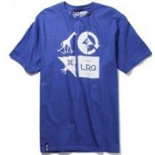 LRG RC Logo Mash Up Tee Deep Cobalt tričko