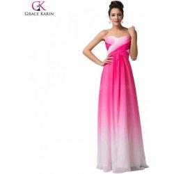 Grace Karin společenské šaty bílo-růžové OMBRE CL6173-1 Růžová ... a6719cf7b7