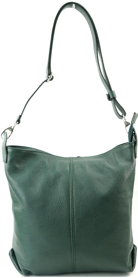Made In Italy kabelka kožená tmavě zelená crossbody od 1 499 Kč - Heureka.cz 3877373eb32