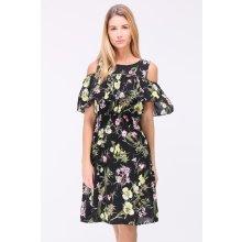 RELAX Letní květované šaty LEONE BLACK 8e3d4ca79c