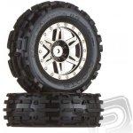 """""""dboots"""" Sand Scorpion XL přední kola, černý/chrom disky nalepené 2 ks"""