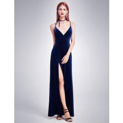 5f075edd3b9 Ever Pretty sametové šaty se špagetovými ramínky tmavě modrá ...