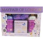 Mayfair of London pěna 200 ml + luxusní koupelové krystaly 100 g + tělové mléko 200 ml + žínka dárková sada