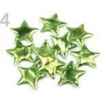 Vánoční hvězda Ø45mm zelená travní sv. 50 ks
