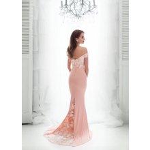 Dámské společenské dlouhé šaty Caly růžová 7052a8d9eb