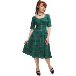 Dámské šaty Collectif kostkované šaty Irma zelená 1780c1b130