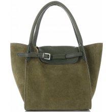 Vittoria Gotti kožená kabelka Zelená 0f9b22ccac3