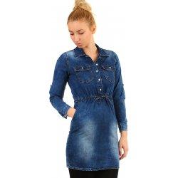 18875f53d490 Filtrování nabídek Krátké džínové podzimní šaty s tříčtvrtečním ...