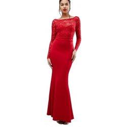 CityGoddess dlouhé společenské šaty s odhalenými zády červená od 2 ... 984dc6975d