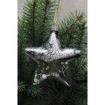 Vánoční HVĚZDA s ozdobou (10x10x3 cm)