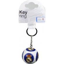 Přívěsek na klíče FC Real Madrid: pryžový míč (průměr 5 cm) [327194] CurePink