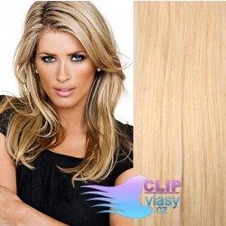620b00912c8 Clip in vlasy REMY 60cm - melír blond  22 613 od 2 790 Kč - Heureka.cz