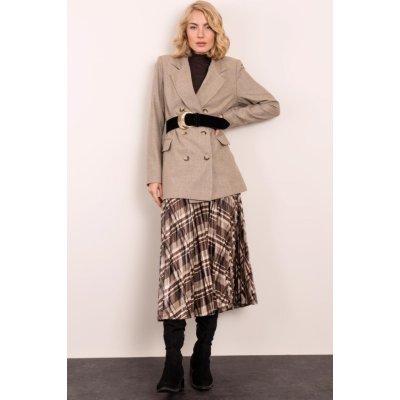 Dámská vzorovaná midi sukně 14426 brown