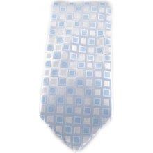 Bílá mikrovláknová kravata se světlým vzorkem modrá c697e849c2
