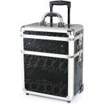 Hairway Kadeřnický kufr na kolečkách 3-dílný černý vzor 2 28587