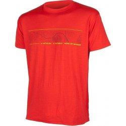 Sensor merino wool pt gps triko červená