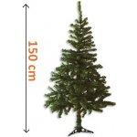 Umělý vánoční strom tmavě zelený, 1,5 m