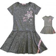 4ad124e39575 Dívčí-šaty-KUGO K646 tm.šedá