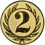Pohary.com Emblém 2. místo zlato 25 mm