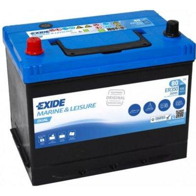 Exide Dual 12V 80Ah 510A ER350