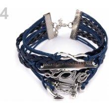 Náramek kombinovaný 4 modrá pařížská