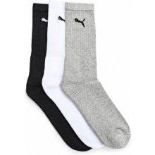 Puma Sportovní ponožky SPORT 3-PACK 88035510 WHITE/GREY/BLACK