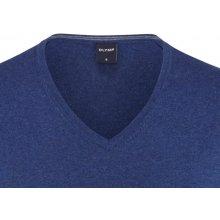 Luxusní svetr Olymp - merino - hedvábí - kašmír - modrý
