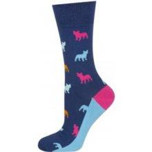 3413b06a9bb Vzorované ponožky GOOD STUFF - BULDOCI tmavě modrá