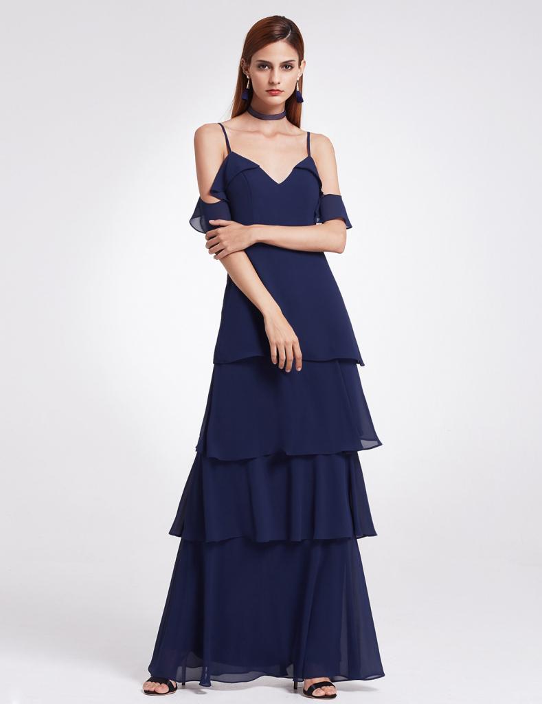 66ff656a3374 Ever-Pretty volánové šaty se spadlými rameny námořnicky modrá alternativy -  Heureka.cz