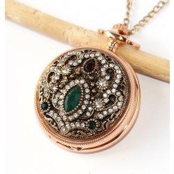 c4f9804dc MR Otevírací Kapesní na řetízku, zlaté Vintage Exklusive Woman, Retro  Diamond Style Mandala,